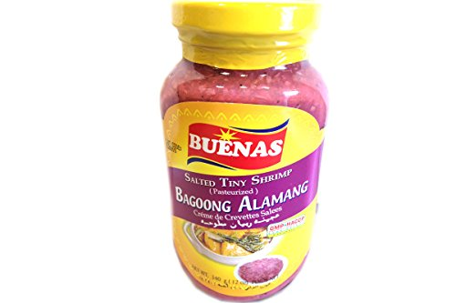Fine Shrimp Sauce - Creme De Crevettes Salees Bagoong Alamang (Salted Tiny Shrimp) - 12oz (Pack of 1)