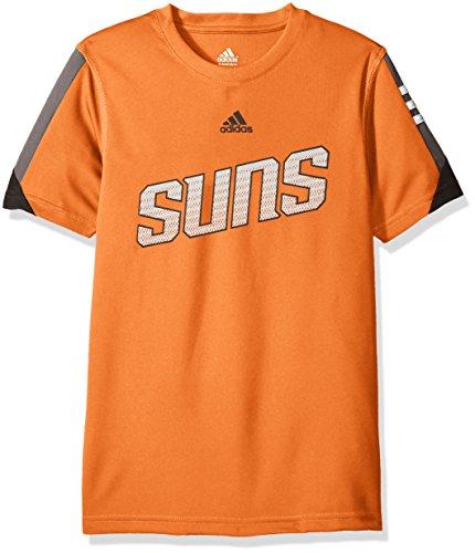 - NBA Youth 8-20 Phoenix Suns Possession Short Sleeve Performance Tee-Texas Orange-M(10-12)