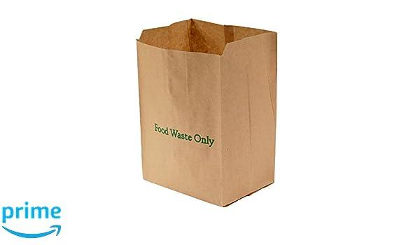 All-Green - Bolsas de basura biodegradables y compostables (papel, 8 L, 50 bolsas), color marrón: Amazon.es: Hogar
