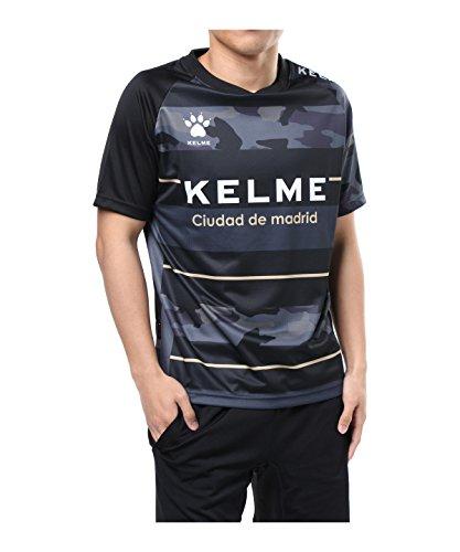 夜明けに失望させる尊敬するケルメ サッカーウェア 半袖シャツ 18SS プラクティスシャツ KC70130S BK XL