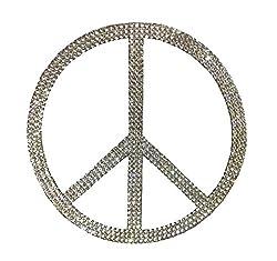 Car Bumper Rhinestone Peace Symbol Sticker