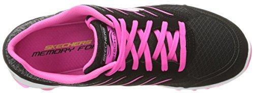 Skechers 0 Air Black Fashion Sneaker Sport Women's City 2 Pink Hot Skech Love wXrfX6axqO