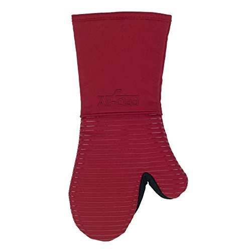 UPC 072894594224, All-Clad Textiles Premium Collection Heavyweight 100-Percent Cotton Twill and Silicone Oven Mitt, Chili
