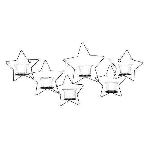 Koehler Holiday Seasonal Christmas Home Decor Starlight Iron Candle Holder Wall Mount Sconce