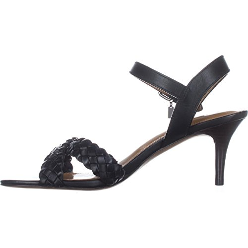 Coach Womens Marilyn Leather Open Toe Casual Strappy Sandals, Black, Size 7.0 by Coach