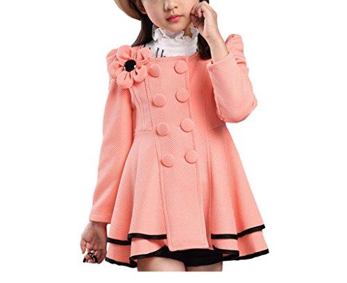 Taiycyxgan Girls Autumn Collar Dress Coats Warm Jacket Outerwear Parka Overcoat