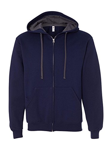 un Full-Zip Hooded Sweatshirt - JNavy, 3XL (Fruit Of The Loom Hoodies)