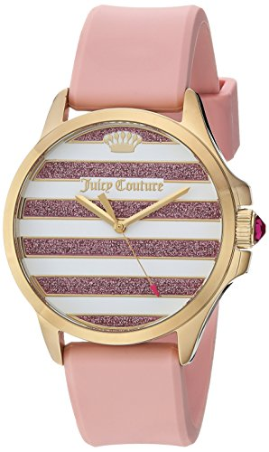 Juicy Couture Women's Pink Silicone Strap Watch - 6