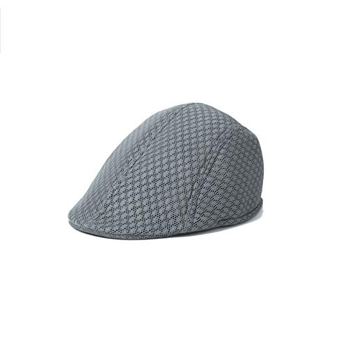 LDDENDP Hat Male Summer Mesh Beret Men's Middle and Old Aged Forward Hat Spring and Autumn Old Man Cap Breathable Cool Hat Net Yarn Ventilation, Comfortable Sweat Absorption, Sunshade Cap, Flat Top Ha