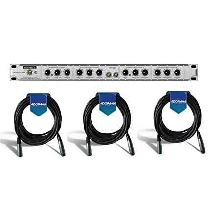 Aphex 2-Channel Aural Exciter and Optical Big Bottom Effects Processor -  with 3 Pack 15' 8mm XLR Microphone Cable