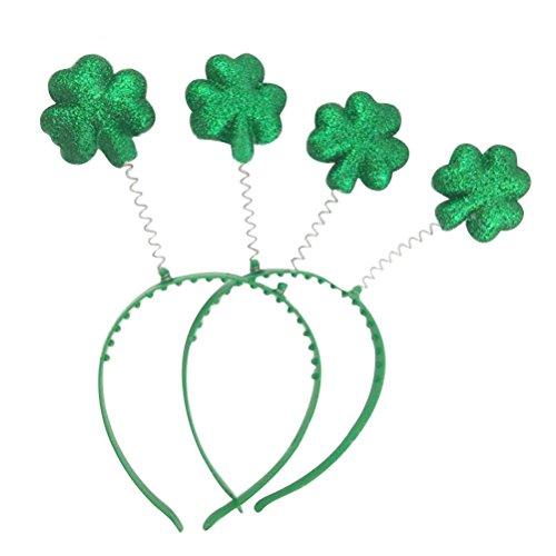 BESTOYARD 2pcs St.Patrick's Day Headband Green Headband Shamrock Boppers Party Hat Party Headband Costume Accessories