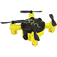 Yellow 2.4G Mini Small RC Quadcopter Drone with Wifi 0.3MP Camera and Altitude Hold Function Headless Mode