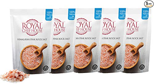Premium Himalayan Pink Salt by Royal Chef House (Coarse, 10 Pound)