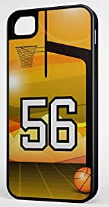 Basketball Sports Fan Player Number 56 Black Rubber Hybrid Tough Case Decorative iPhone 5c Case