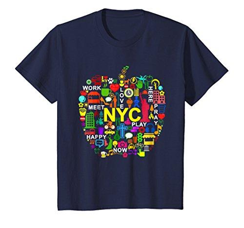 Nyc Big Apple - Kids I LOVE NYC T-Shirts NEW YORK CITY BIG APPLE 10 Navy