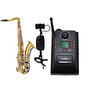 professional uhf musical instrument wireless clip on microphone system with. Black Bedroom Furniture Sets. Home Design Ideas