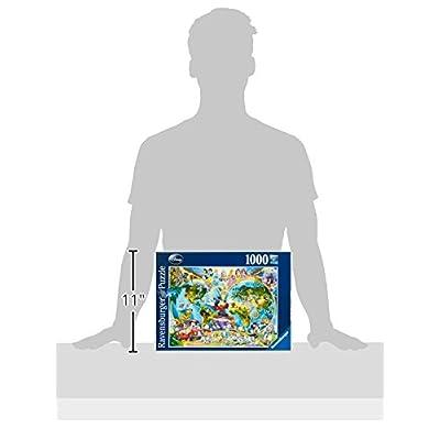 Ravensburger 15785 Mappamondo Disney Puzzle 1000 Pezzi Fantasy