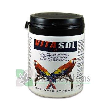 Vydex Vitasol 100 gr, (vitaminas, minerales y aminoácidos solubles en agua). Para pájaros: Amazon.es: Jardín