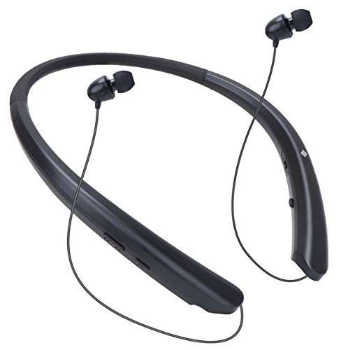 Bluetooth Neckband Headphones Wireless Headset Retractable Earbuds HD Stereo Noise