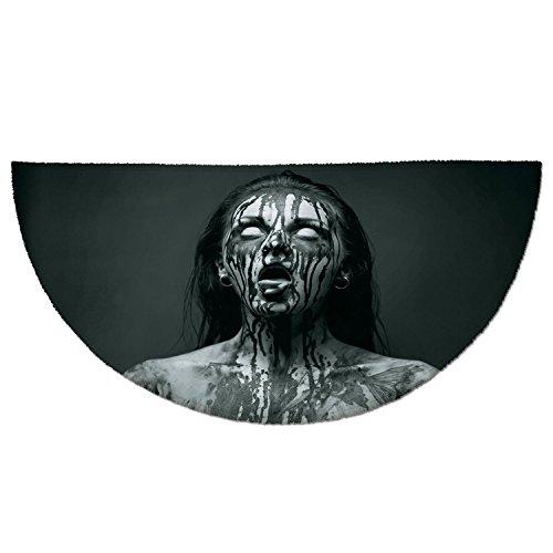 Cheap  Half Round Door Mat Entrance Rug Floor Mats,Zombie Decor,Unusual Scream Monster Woman..