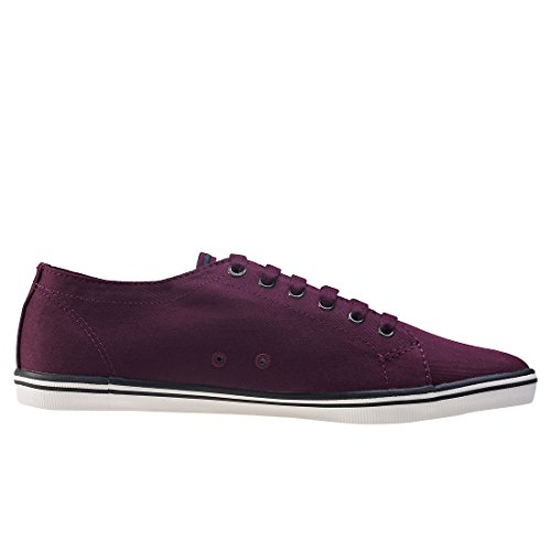 Fred Perry Menns Kingston Twill Mote Sneaker Mahogni