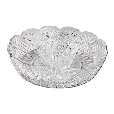 Godinger Dublin 12-Inch Crystal Chip and Dip