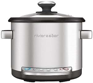 Riviera & Bar QD285A Virtuo - Aparato de cocción (acero inoxidable), color plateado mate
