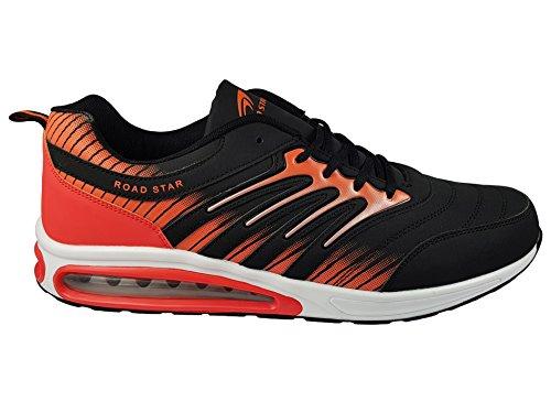 Unbekannt , Chaussures de course pour homme Schwarz (Schwarz/Orange)