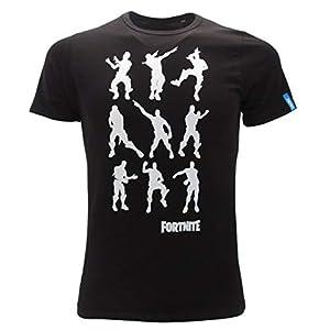 Epic Games – Schwarzes T-Shirt mit Moves Dance Floss Dance L Dance Loser OFFIZIELLE Ursprüngliche Videogame