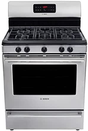"""Bosch HGS5053UC500 30"""" Stainless Steel Gas Sealed Burner Range - Convection"""
