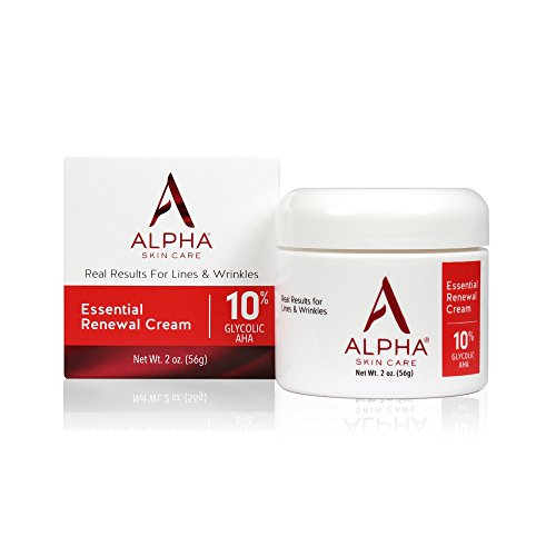 (Alpha Skin Care - Essential Renewal Cream, 10% Glycolic AHA, Real Results for Lines and Wrinkles| Fragrance-Free and Paraben-Free| 2-Ounce)