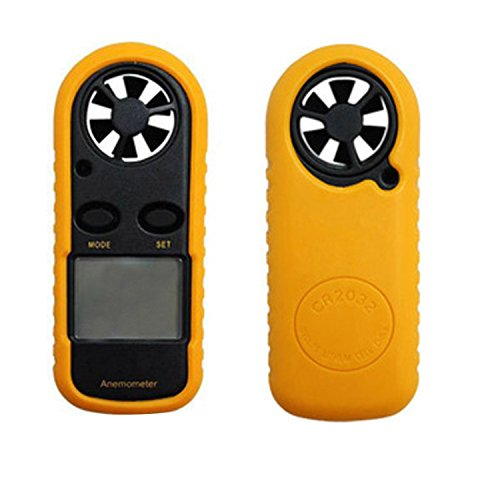 ALEKO ANM816 Pocket Digital LCD Anemometer Beaufort Wind Scale Thermometer