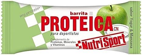 Nutrisport Barrita Proteica 24 x 46g Yogurt-Manzana: Amazon ...