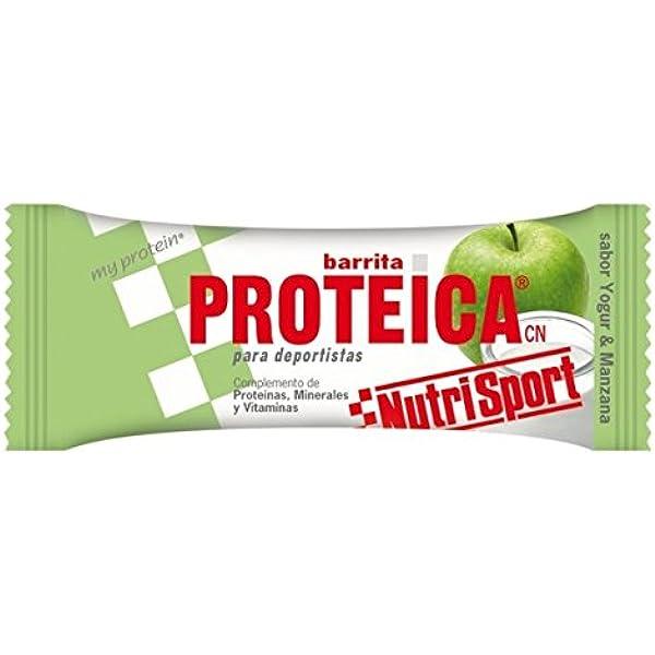 Nutrisport Barrita Proteica 24 x 46g Yogurt-Manzana: Amazon.es