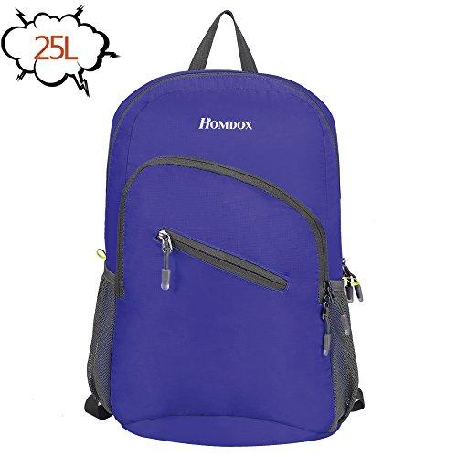 Homdox 25L Lightweight Hiking Daypack Handy Packable Travel Backpack – Foldable Durable & Waterproof