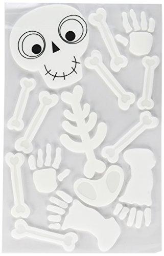 (Halloween Cute Friendly Small Skeleton Gel Clings, 18)