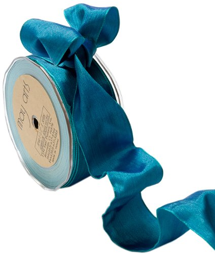 May Arts 1-1/2-Inch Wide Ribbon, Blue and Green Iridescent by May Arts