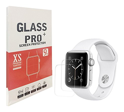 [2PACK] 42mm Apple Watch Screen Protector for Series 1, 2 & 3, WEIPAI Premium Anti-Scratch Tempered Glass Screen Protector [Only Covers The Flat Area]