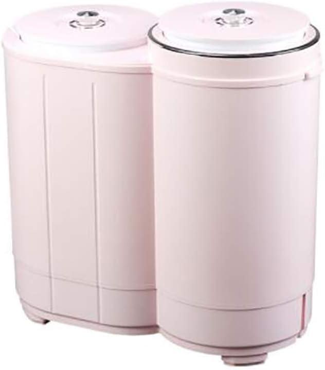 JND Lavadora Lavadora Mini Doble Cilindro, Semi-automático Mini Lavadora adecuados con el Reloj Programador a 3,0 kg / 6,6 Libras Capacidad de Lavado de Apartamento/Hotel/Familia. Secadora