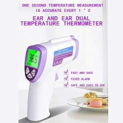 ?New Version?LuYuMiu Non-Contact Infrared Thermometer,Quick 1 Sec Reading for Body, Surface and Room Forehead Thermometer for Baby, Kids and Adults,CE and FDA Approved (Batteries Included?