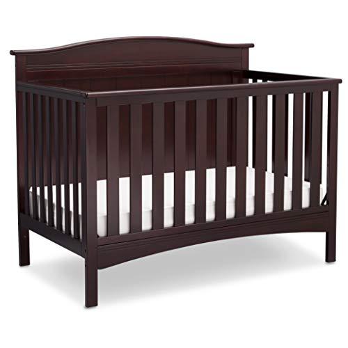 Delta Children Bennett 4-in-1 Convertible Baby Crib, Dark Chocolate