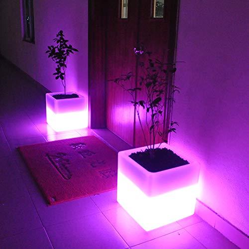 LED cubo luce mobili bar box sedia quadrata all'aperto per il tempo libero sgabello asilo sedia di plastica