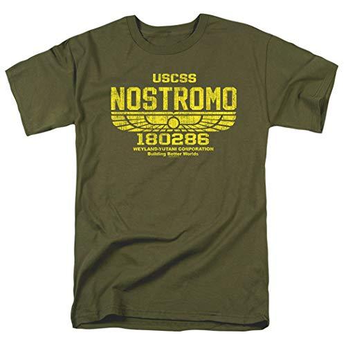 Alien USCSS Nostromo Vintage Logo Military Green T Shirt (XX-Large) ()