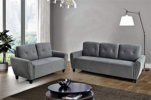 US Pride Furniture Living room set, Sofa and Loveseat, Grey