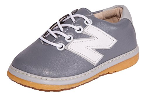 Little Mae's Boutique Gray Toddler Boy Sneaker Squeaky