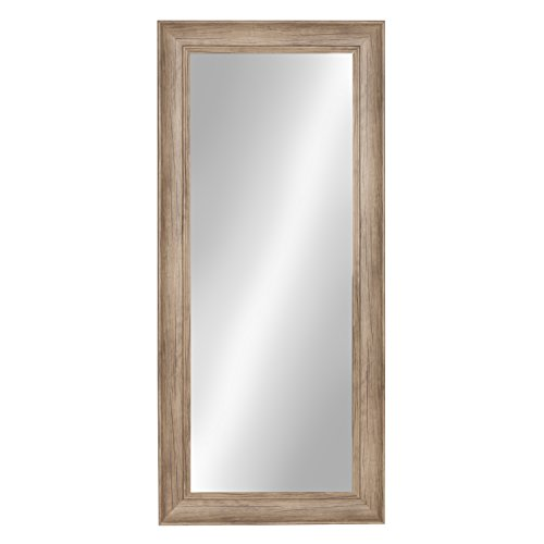 Kate and Laurel Macon Framed Wall Panel Mirror, 16x36, Rustic -