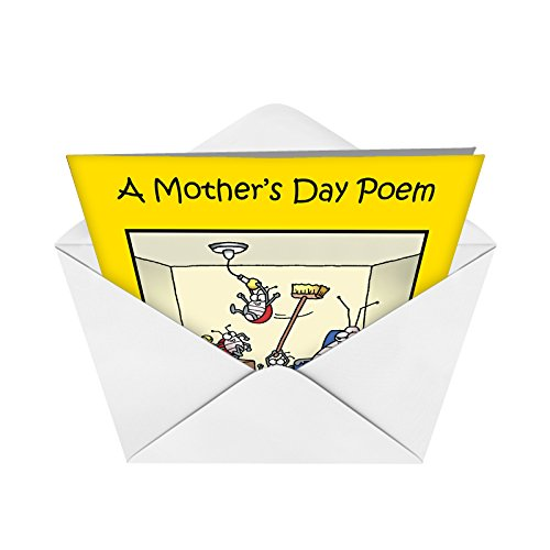 0045 'Moms Day Poem' - Funny Mother's Day Greeting Card with 5