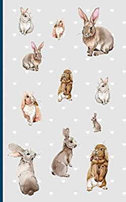 Bunny Rabbit Journal Note Book: Watercolor Art, Small College Ruled Notebook for Daily Stories or Memoir Writing (Pet Bunny Supplies Vol 1)