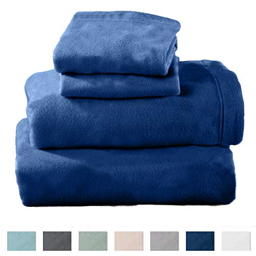 Home Fashion Designs Maya Collection Super Soft Extra Plush Polar Fleece Sheet Set. Cozy, Warm, Durable, Smooth, Breathable Winter Sheets in Solid Colors Brand. (Queen, Navy)