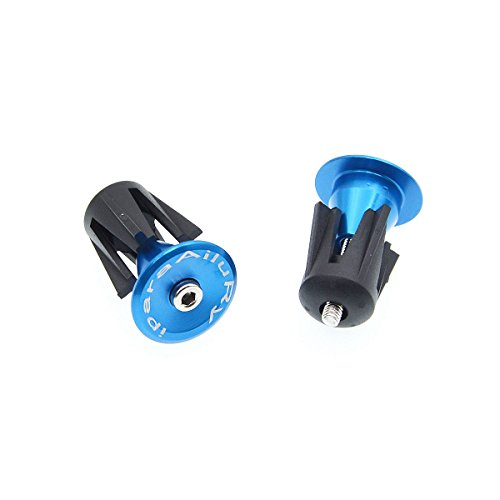 Bike Bar End Plugs - iParaAiluRy Handsome Universal Rubber Sponge Aluminum Handlebar Plug